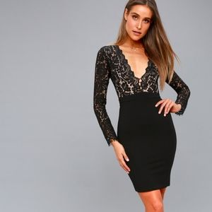 Lulu's SWOON-ER OR LATER LACE DRESS